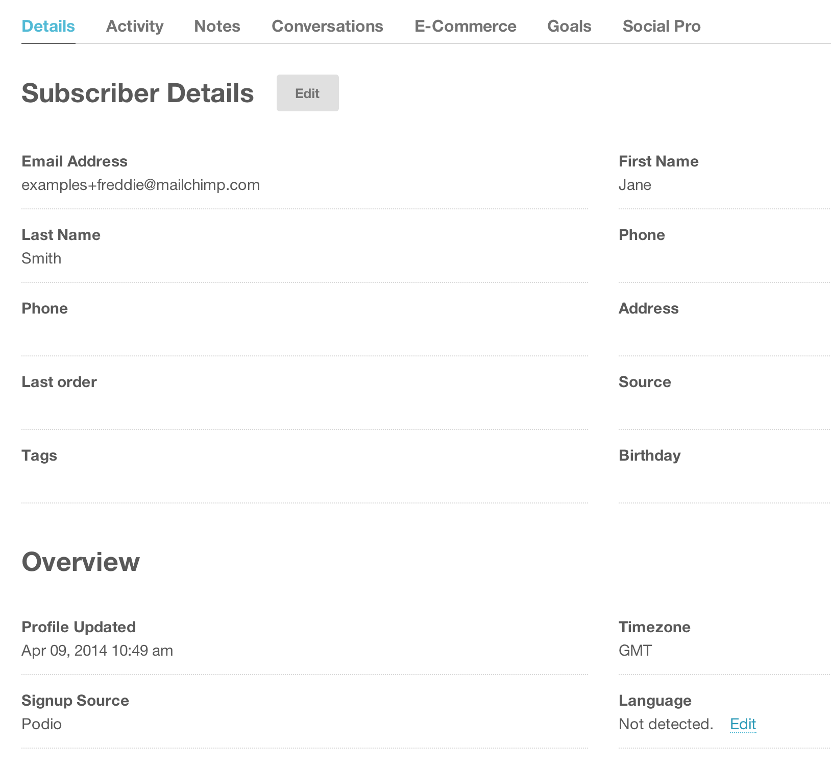 how to include organisation name in unsubscribe option mailchimp