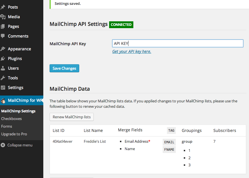 How-To Article: Setup MailChimp for WordPress | MailChimp ...