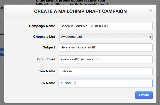 How to article scoop it mailchimp mailchimp for Mailchimp create template from campaign
