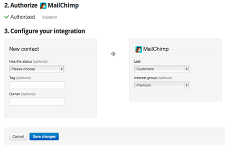 Segment your MailChimp lists based on your profiles from business apps.