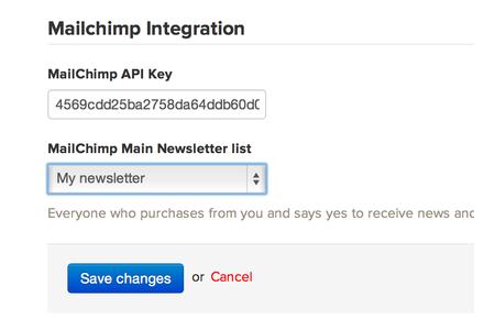 Enter API key, choose your main list