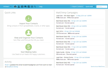 See your campaigns on the dashboard