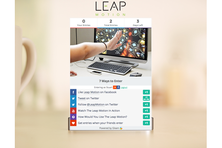 This is a competition on a Gleam landing page, you can control the background to fit your brand.
