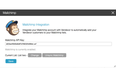 Integration is simple with the MailChimp API