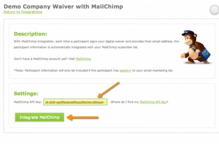 In a few quick steps you can integrate Smartwaiver with Mailchimp