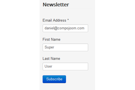 form for logged in users