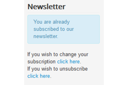 unsubscribe and edit subscription