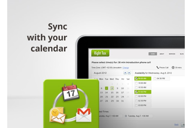 Synced with your calendar