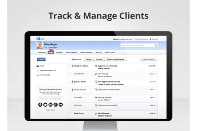 Easily track and manage clients