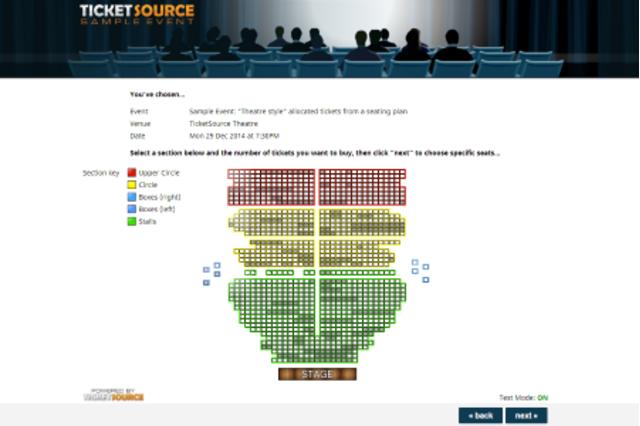 Ticket shop: venue plan