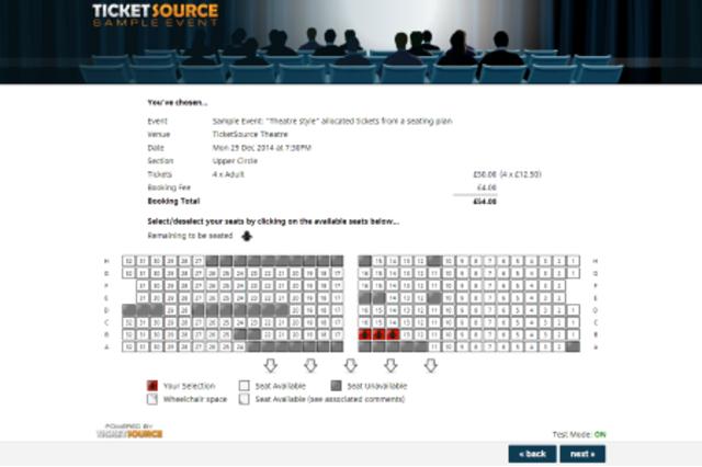 Ticket shop: seating plan