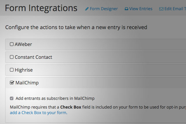 Subscribe your online followers straight from your web campaign form