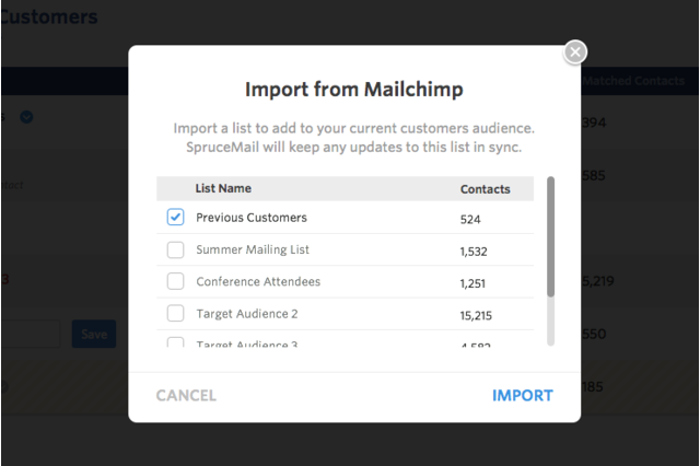Import and sync your email lists from Mailchimp
