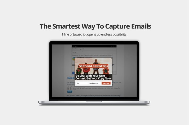 Capture more emails with Gleam Capture