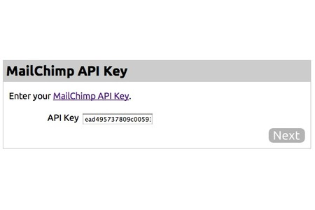 Enter Mailchimp API Key