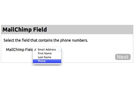 Select phone number field