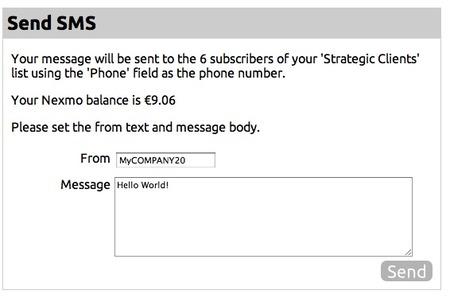 Send SMS campaign!