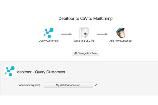 Activating Debitoor to MailChimp integration