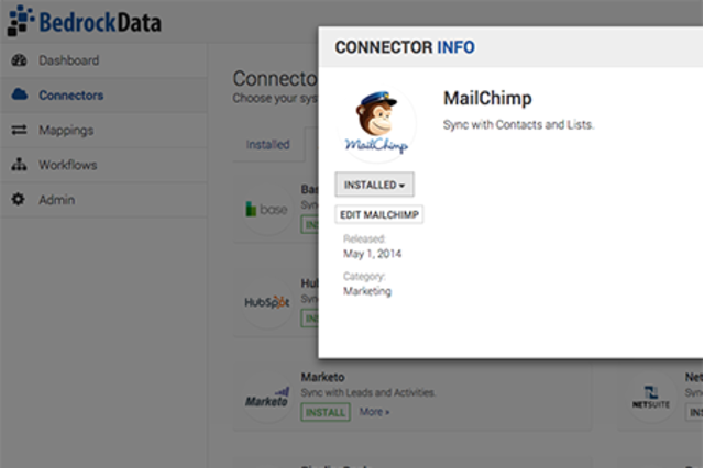 Bedrock Data MailChimp Connector