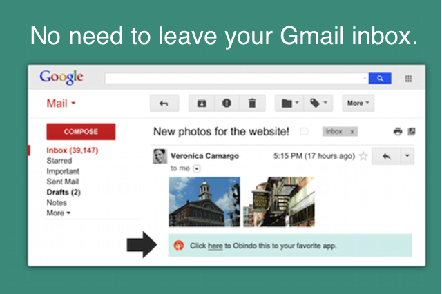 No need to leave your inbox.