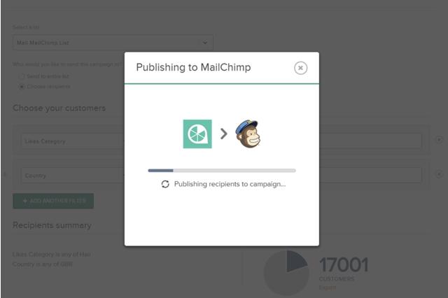 One-click publish recipients to MailChimp