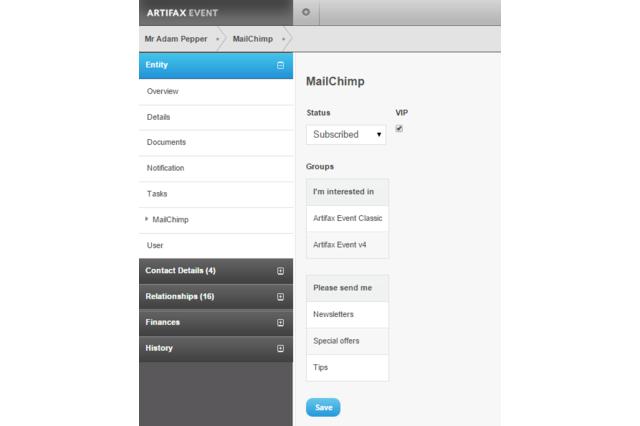 Entity MailChimp overview