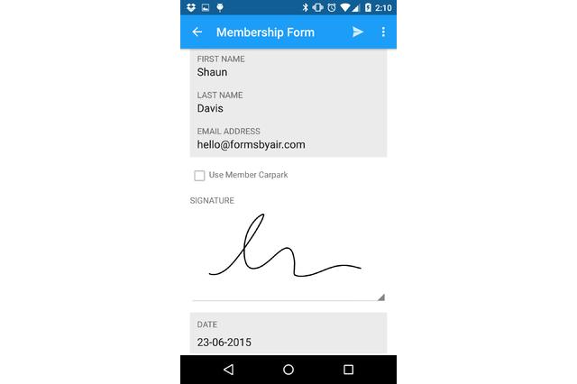 Capture details with mobile form-fill app
