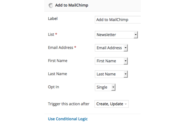 Formidable MailChimp Settings