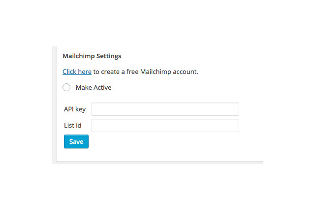 Easily add donors and buyers to your Mailchimp email lists.