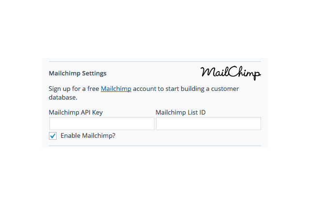Easily add buyers to your Mailchimp mailing list.
