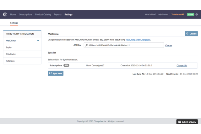 Chargebee - MailChimp Integration (2)