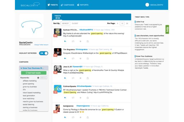 SocialCentiv Tweet Stream