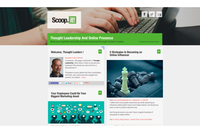 Create a topic page on Scoop.it in a few minutes