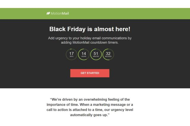 MotionMail Countdown Timers Integration MailChimp Integrations - Mailchimp email template examples