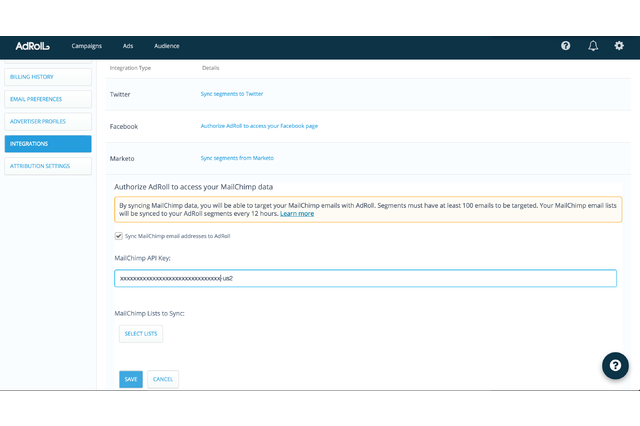 Sync your MailChimp audience.