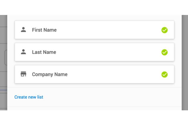 Import options to MailChimp