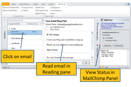 View and Manage Contacts Directly from the Email Panel