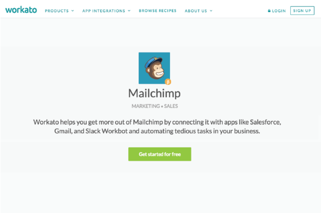 Workato + MailChimp