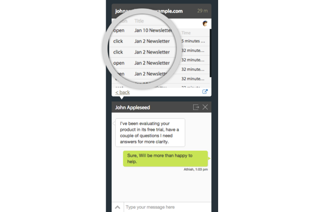Agent view - Visitor's Subscribed Lists' details