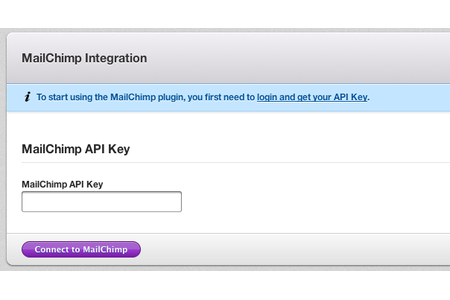 Integration with MailChimp has been completed in less than 10 seconds!