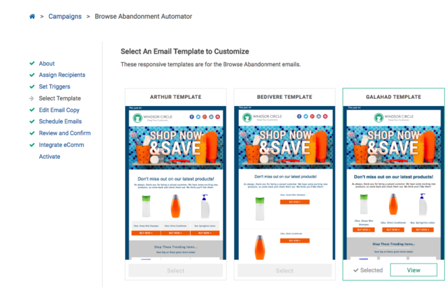 Utilize responsive templates for browse abandonment emails