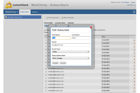 Simple and intuitive subscriber management features
