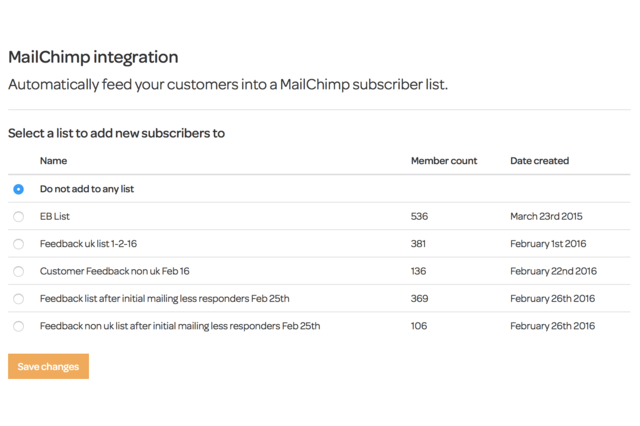 Selecting your subscriber list