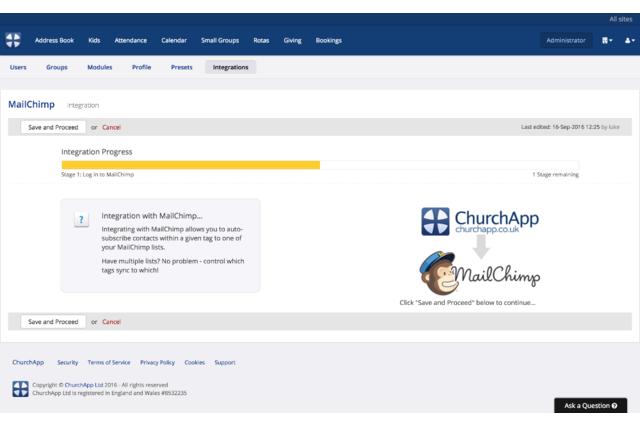 ChurchApp's MailChimp Integration