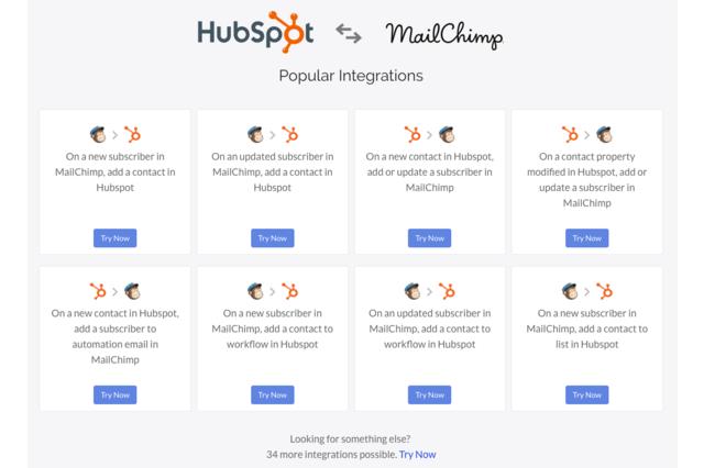 Hubspot and MailChimp Integrations