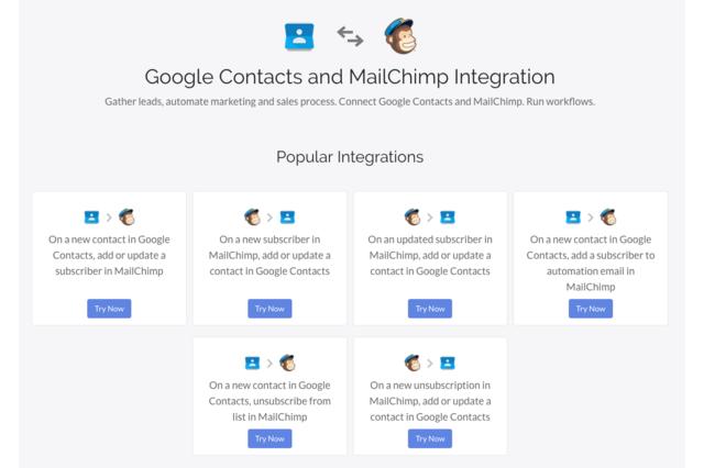 Google Contacts MailChimp Sync