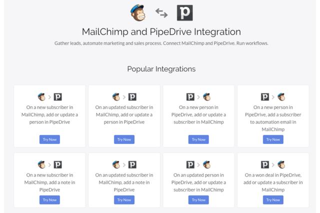 Mailchimp Pipedrive integration