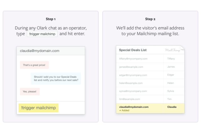 Easily set up your account in Olark Live Chat