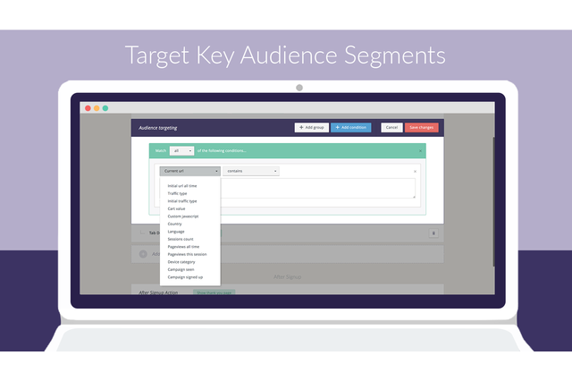 Powerful Audience Targeting & Triggers