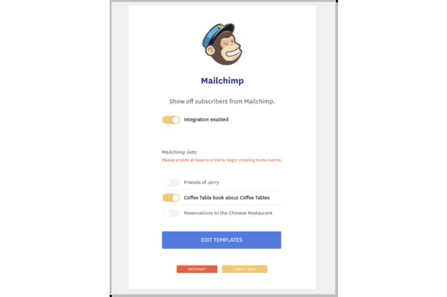 Manage Mailchimp lists